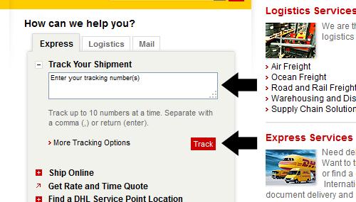 Cách kiểm tra theo dõi vận đơn lô hàng gửi DHL Tracking